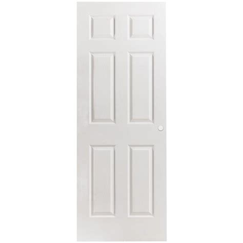 6 panel interior doors masonite 24 in x 80 in primed textured 6 panel hollow