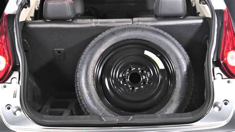 2015 nissan juke spare tire and tools youtube