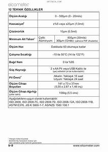 Elcometer 311c Automotive Paint Meter Operating