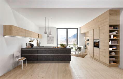 cuisine bois laqué cuisine blanc laqué et bois