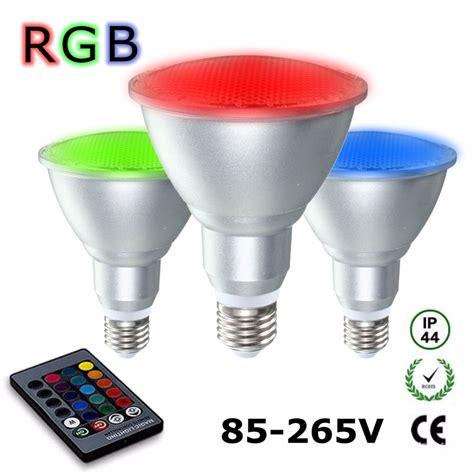 e27 8w dimmable par30 rgb led light color changing bulb