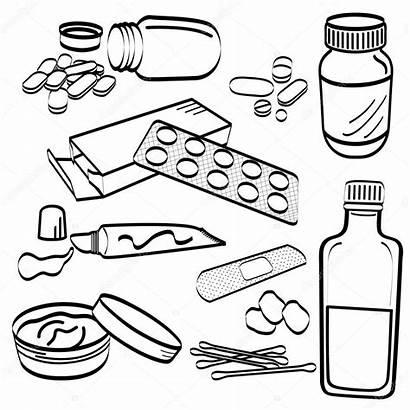 Medicine Pill Bottle Medical Doodle Drawing Tablet