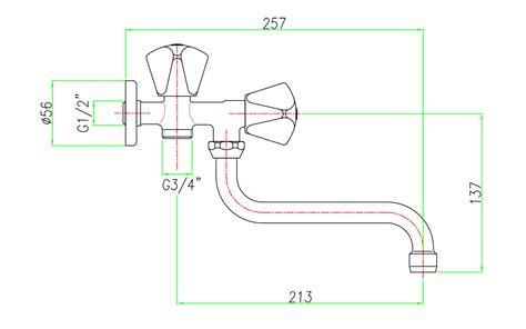 rubinetto doppio rubinetto a snodo doppio uso con attacco per lavatrice