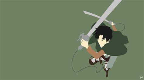 levi ackerman shingeki no kyojin minimalism anime