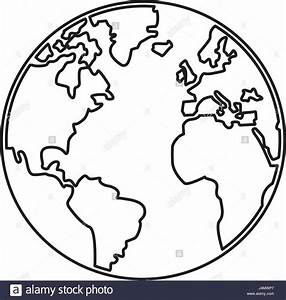 world map earth globes cartography continents outline ...