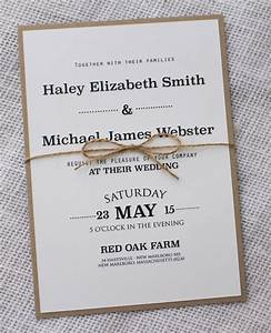 simple wedding invitation ideas amulette jewelry With homemade wedding invitations cost