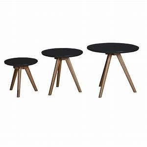 Table Bois Et Noir : table basse noir et bois id es de d coration int rieure ~ Dailycaller-alerts.com Idées de Décoration
