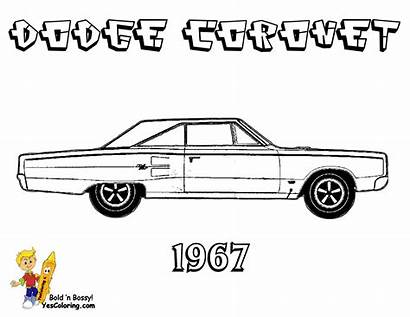 Coloring Pages Dodge Muscle Coronet Printables Cars