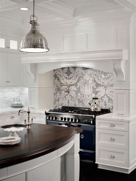 Gray And White Backsplash   Houzz