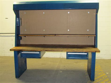 """Lighted Industrial 96x34x88"""" Heavy Duty Workstation"""
