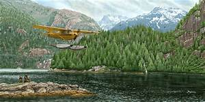 Piper Cub with Floats Airplane Art Airplane Wall Art