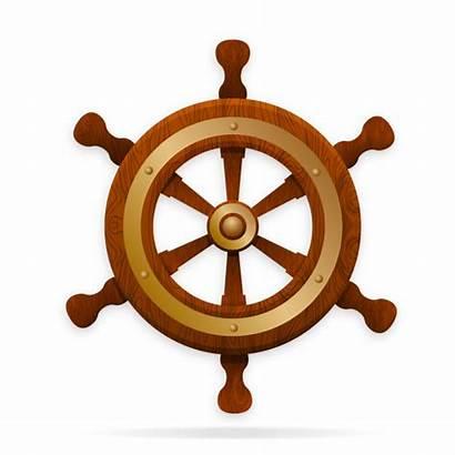 Wheel Ship Steering Vector Rudder Tiller Gold