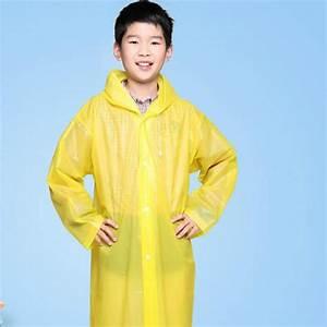 Eva Raincoat Waterproof Coats Boys Transparent Plastic ...