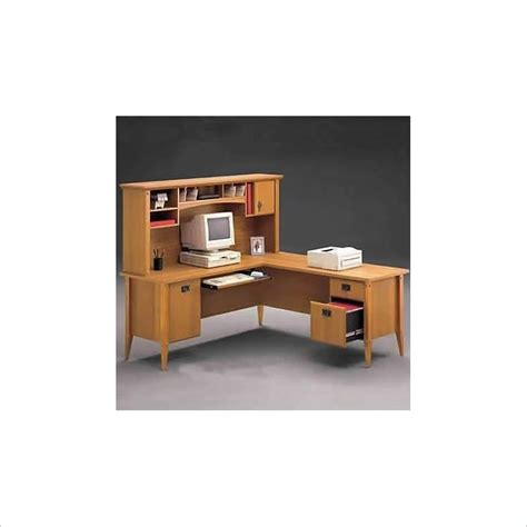 home office l desk bush furniture mission l shape wood home office desk ebay