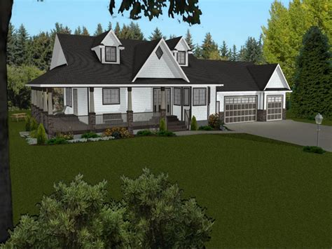 ranch house plans  wrap  porch ranch house plans  walkout basement bungalows
