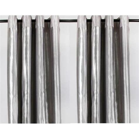 rideau gris opaque