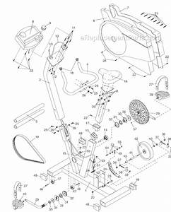 proform 288270 parts list and diagram ereplacementpartscom With exercise bike diagram