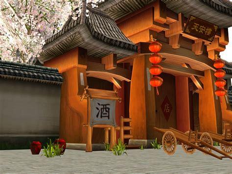 fantasy tavern exterior game environment  model dsmax