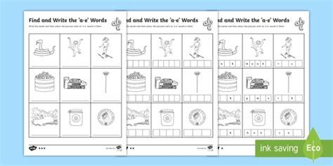 find  write    words differentiated worksheet
