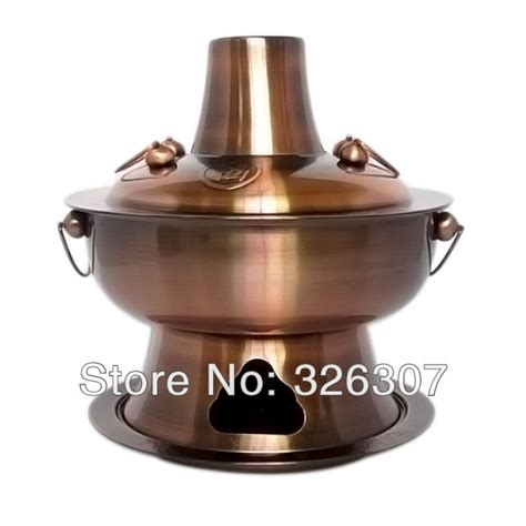 thick stainless steel plated cm copper pot  carbon charcoal fire boiler fondue pot