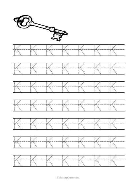 printable tracing letter  worksheets  preschool