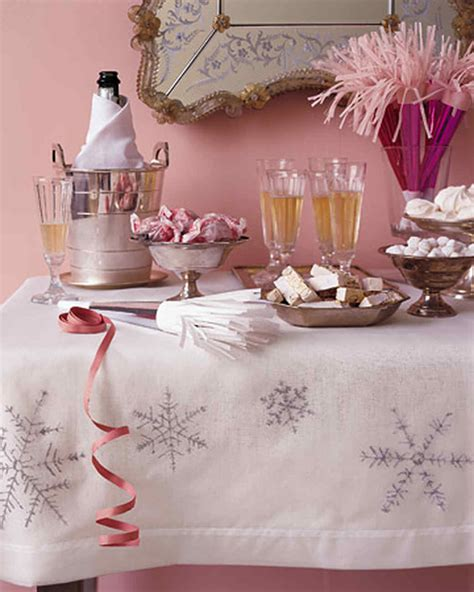 Snowflake Tablecloth  Martha Stewart
