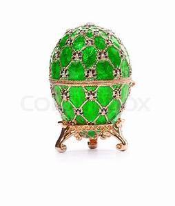 Faberge egg Isolated on white Stock Photo Colourbox