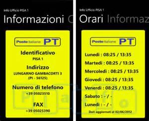 Numero Di Telefono Ufficio Informazioni Trenitalia Poste In Tasca Cerca L Ufficio Postale Pi 249 Vicino A Te