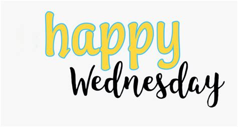 Transparent Happy Wednesday Clipart Calligraphy Free