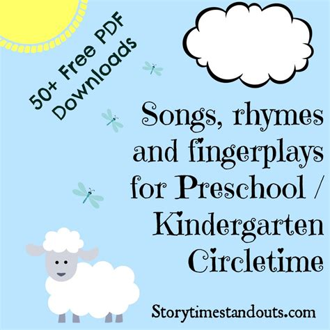 Free Printable Rhymes, Songs, Chants And Fingerplays
