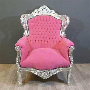 Canapé Baroque Pas Cher : fauteuil baroque rose meuble baroque ~ Teatrodelosmanantiales.com Idées de Décoration