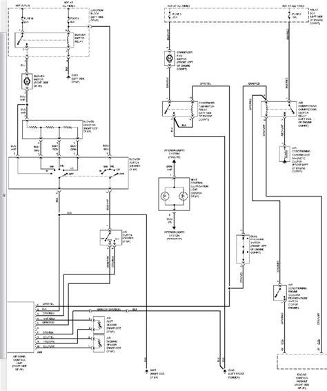 1996 montero blower motor wiring diagram 1994 mitsubishi montero air conditioning circuit
