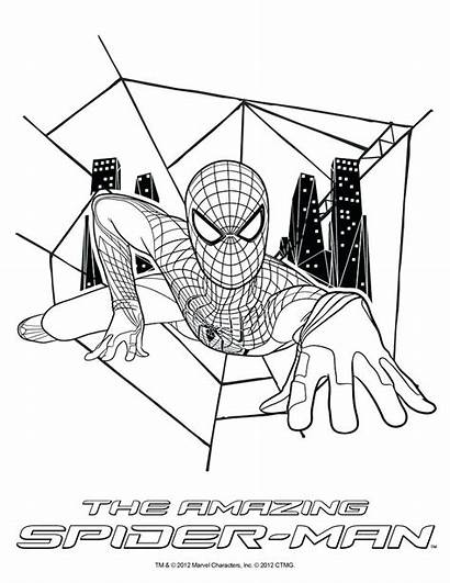 Spider Coloring Pages Amazing Spiderman Printable Sheets