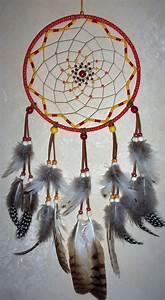Attrape Reve Fait Main : attrape r ve circulaire fait main rouge accessoires ~ Dode.kayakingforconservation.com Idées de Décoration