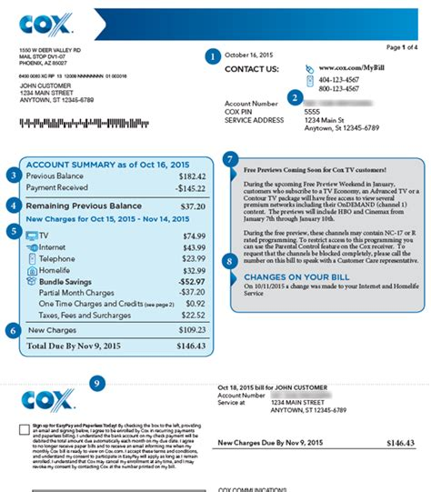 cox pay bill by phone how to read your cox bill