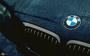 car, BMW, Closeup, Logo, Black, Water drops, Wet