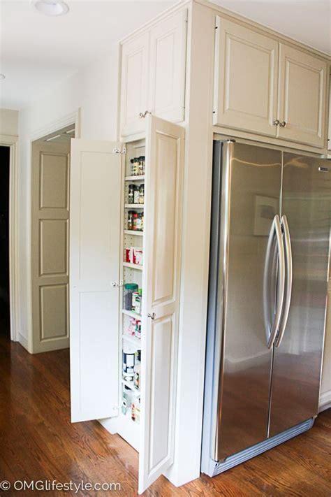 spice cabinet  side wall  fridge   empty