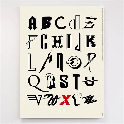 bands that start with the letter h awesome alphabet posters made from classic and alternative 31931