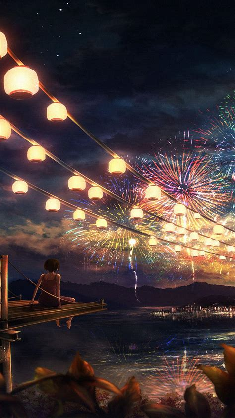 Fireworks Anime Wallpapers - Wallpaper Cave