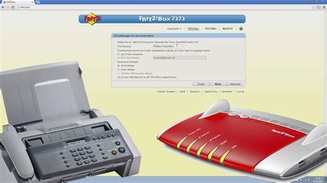 faxfunktion  der fritzbox einrichten und faxe   mail
