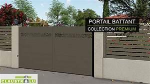 Portail Alu Battant 3m50 : portail alu battant 3m50 cheap portail battant aluminium ~ Dailycaller-alerts.com Idées de Décoration