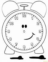 Clock Alarm Pages Coloring Lovely Printable sketch template