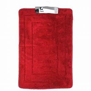 tapis de salle de bain 60x90 cm rouge With tapis salle de bain rouge