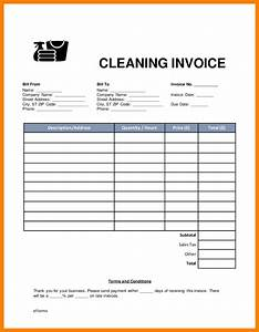 6 cleaning invoice template 3canc With cleaning receipts invoices