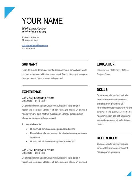 microsoft office resume templates free student