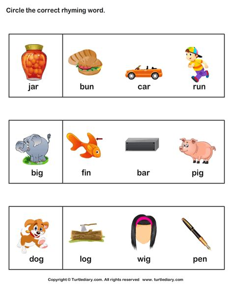 worksheets rhyming words kindergarten rhyming words activities new calendar template site