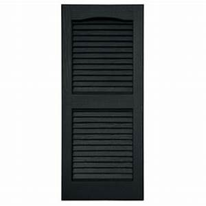 Severe Weather 2-Pack Black Louvered Vinyl Exterior