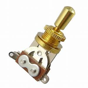 Gold Electric Guitar 3 Way Toggle Switch Pickup Selector