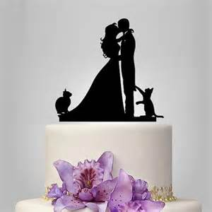 mrs and mrs cake topper wedding cake topper birde and groom silhouette with two