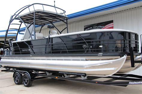 Pontoon With Upper Deck And Slide For Sale by New 2018 Trifecta Pontoons 27rfe Upper Deck W Slide Tri